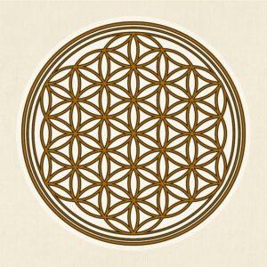 Die Blume des Lebens ist ein beliebtes und einfaches Beispiel für die heilige Geometrie