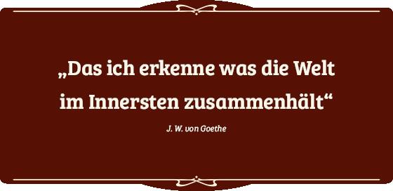 Zitat von Goethe passend zur Heiligen Geometrie