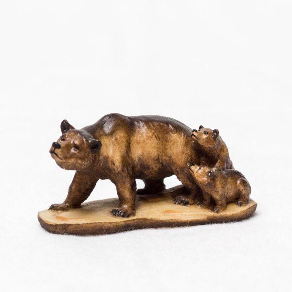 Figur Krafttier Bär aus Holz - Handarbeit aus Tirol