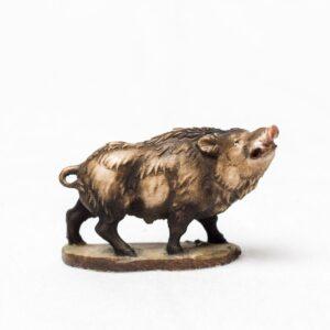Figur Krafttier Eber aus Holz - Handarbeit aus Tirol