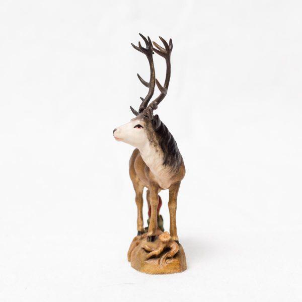 Figur Krafttier Hirsch aus Holz - Handarbeit aus Tirol