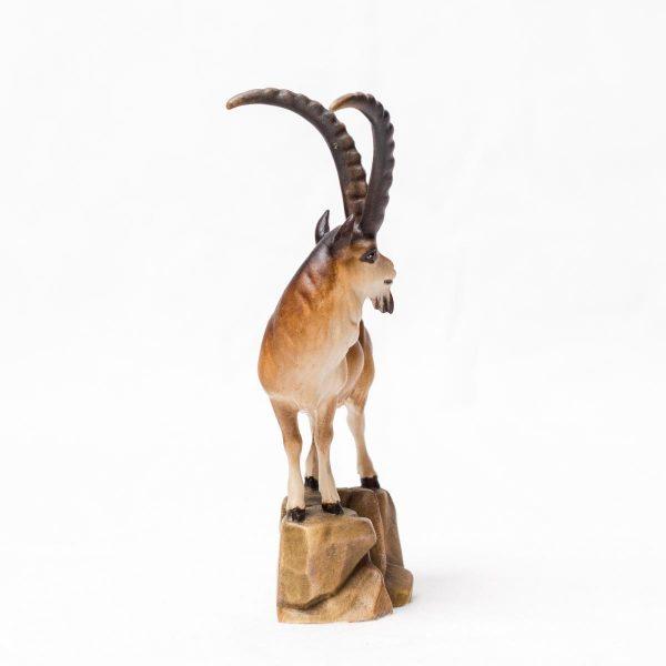 Figur Krafttier Steinbock aus Holz - Handarbeit aus Tirol