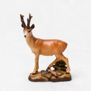 Krafttier Rehbock -handgefertigte Holzfigur -Kunsthandwerk aus Tirol