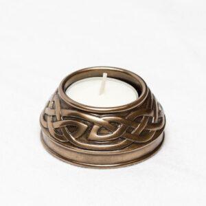 Teelichthalter mit keltischem Knoten - Farbe Bronze