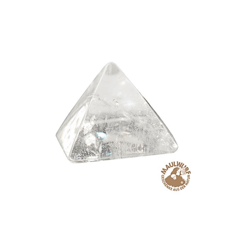 Bergkristall-Pyramide in Geschenkbox, ca. 3 cm