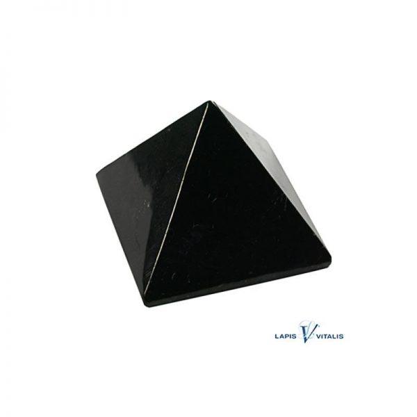Schungit-Pyramide in Geschenkbox, ca. 5 cm