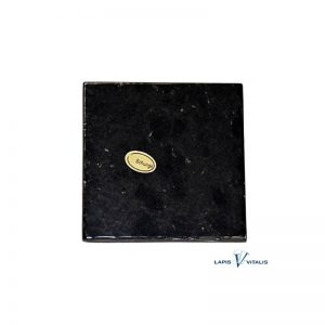 Schungit-Platte in Geschenkbox, ca. 7 cm