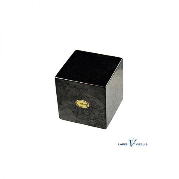 Schungit-Würfel in Geschenkbox, ca. 3 cm