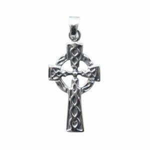 """Anhänger """"Keltisches Kreuz mit Sonnenrad"""" aus 925er Sterling-Silber"""