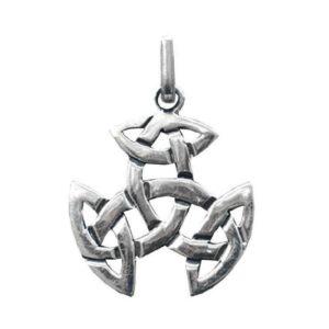 Anhänger dreifacher keltischer Knoten aus 925er Sterling-Silber
