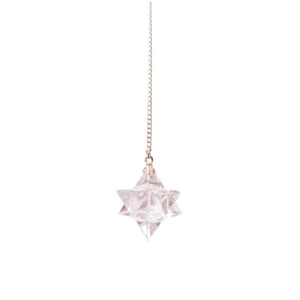 Merkabah-Pendel Bergkristall - 4,5cm