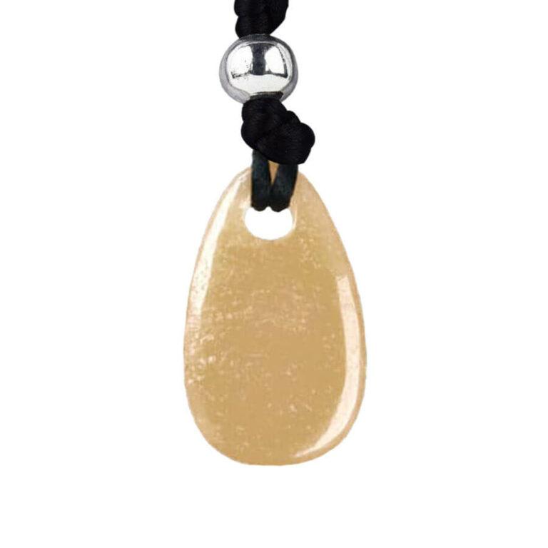 Orangencalcit Kraftstein-Anhänger (Tatkraft)