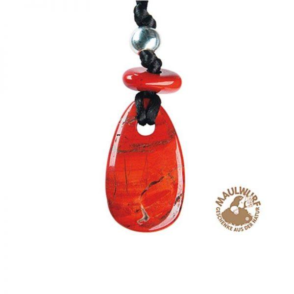 Roter Jaspis Kraftstein-Anhänger (Willenskraft)