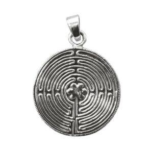 "Anhänger ""Labyrinth Chartres"" aus 925er Sterling-Silber"