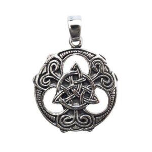Anhänger keltischer Dreiecksknoten aus 925er Sterling-Silber