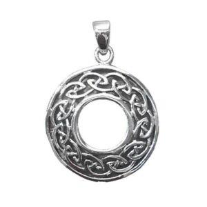 """Anhänger """"Keltischer Knoten"""" rund aus 925er Sterling-Silber"""