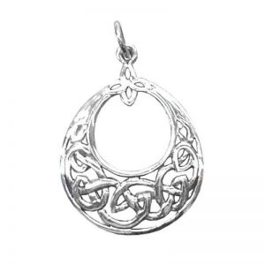 """Anhänger """"Keltischer Knoten"""" oval aus 925er Sterling-Silber"""