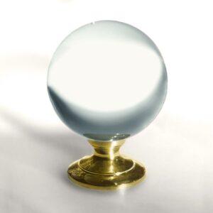 12 cm große Kristallkugel aus Bleikristall