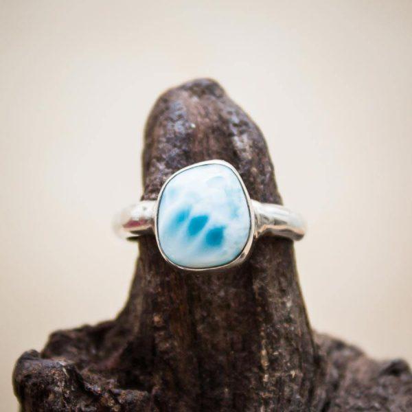 Larimar-Ring aus 925er Sterling-Silber
