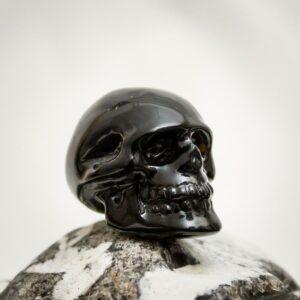 Onyx-Kristallschädel aus Handarbeit