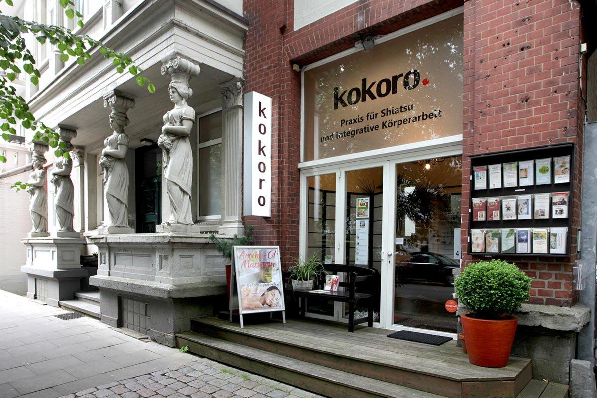 Eingang des Kokoro von der Straße aus gesehen