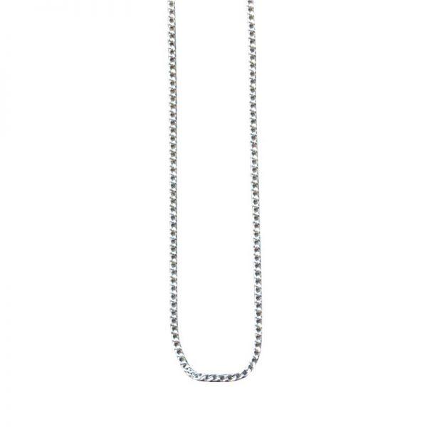 Kette aus 925er Sterling-Silber. Fein gegliedert. Länge 42 oder 50 cm.