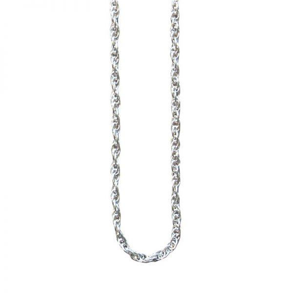"""Kette """"Seil"""" aus 925er Sterling-Silber. Fein gegliedert. Länge 42 oder 50 cm. Gewicht 3,3 g."""