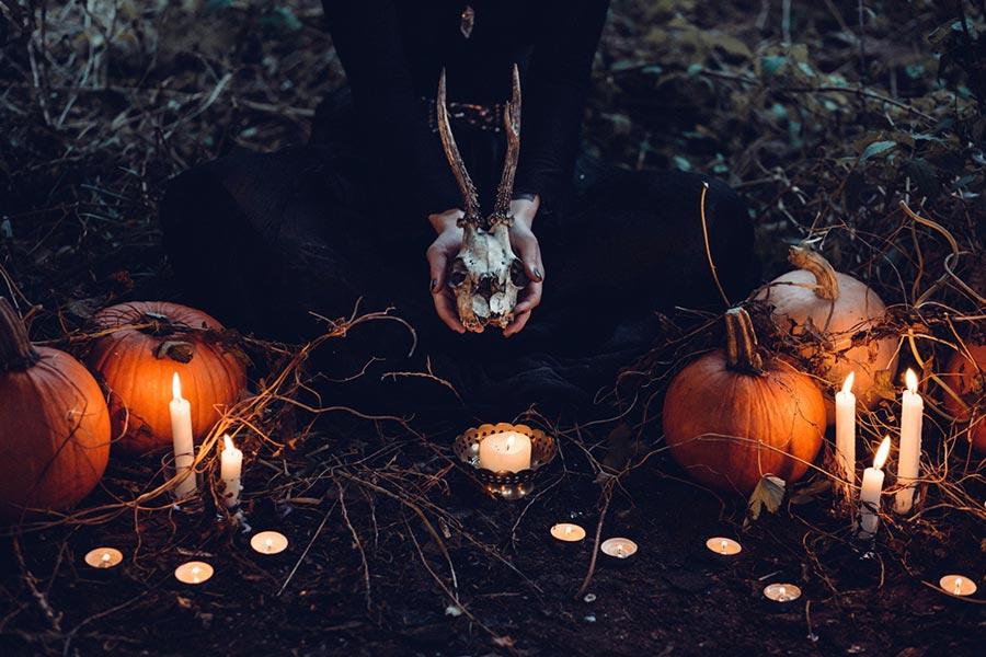 Ganz so gruselig wird unser Samhainritual nicht... aber fast ;-)