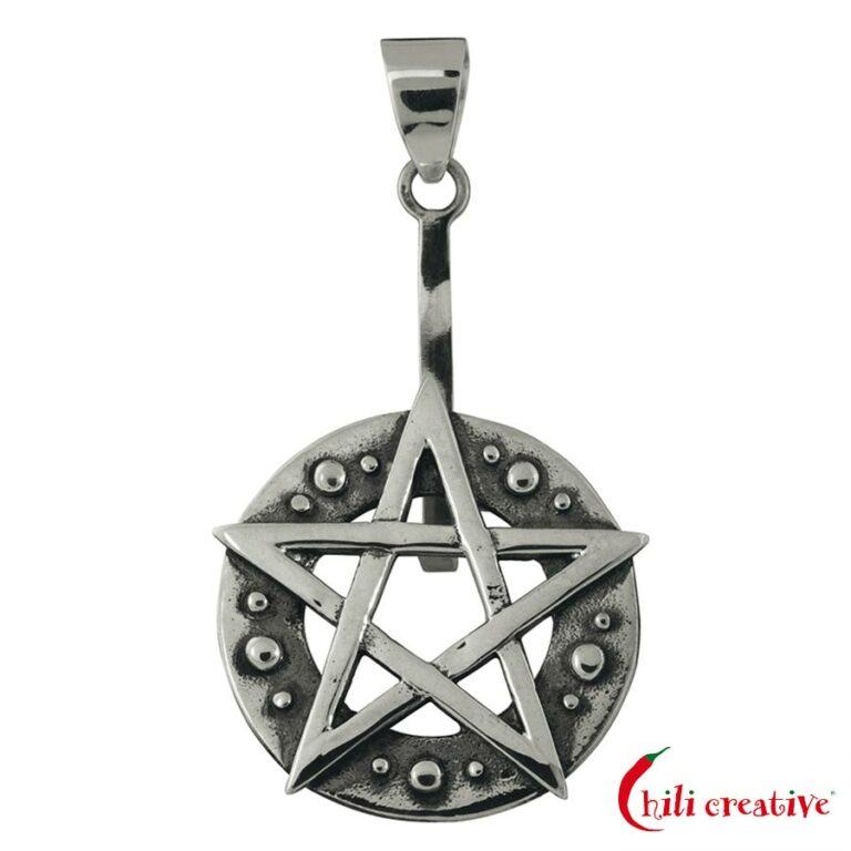 Donuthalter Pentagramm für 30-40 mm Donut - 925er Silber