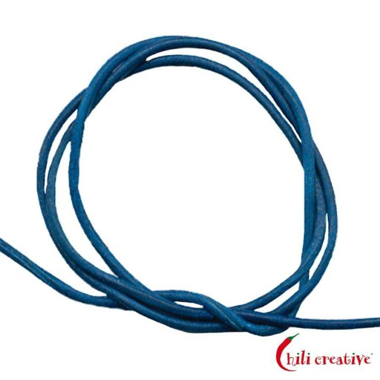 10 Stück Ziegenleder-Bänder königsblau zu je 1 Meter