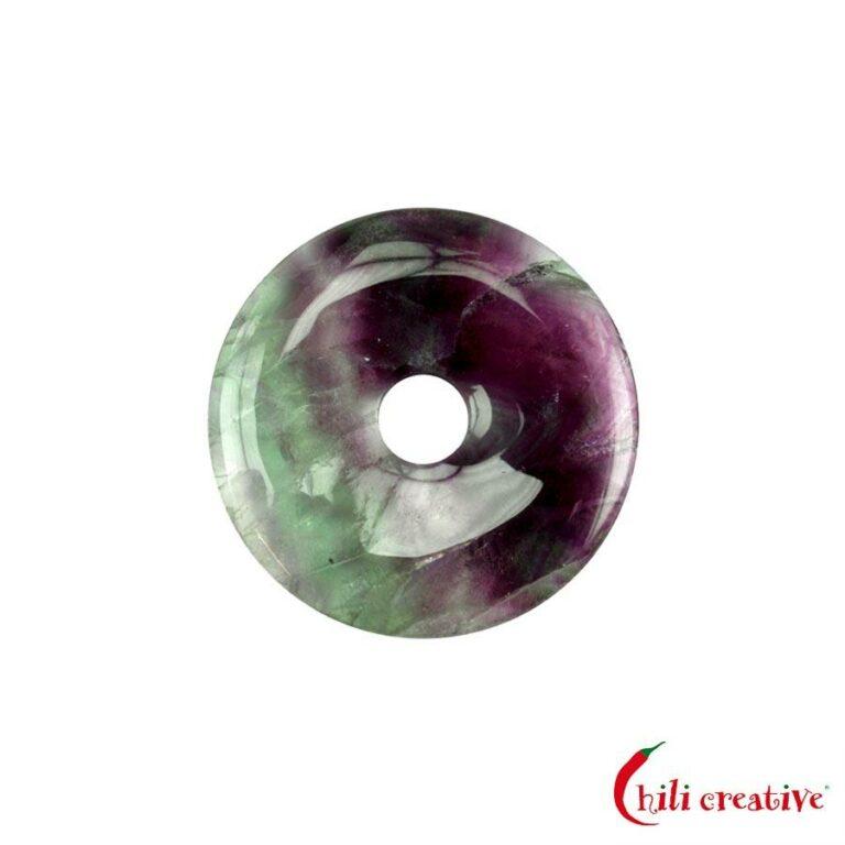 Kleiner Fluorit Donut, 30 mm Durchmesser