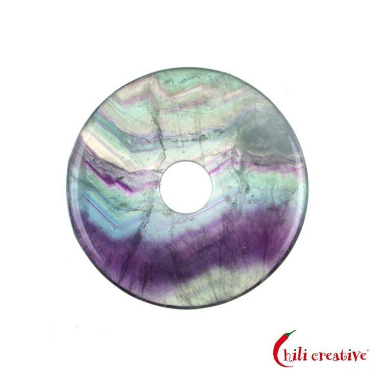 Mittlerer Fluorit Donut, 40 mm Durchmesser