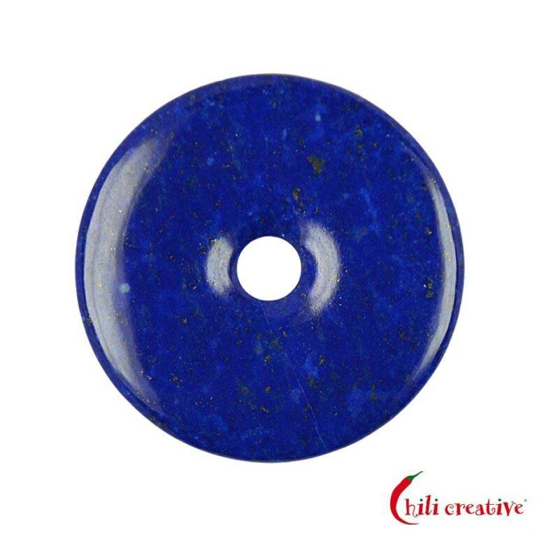 Mittelgroßer Lapislazuli Donut - 45 mm Durchmesser, Qualität AAA