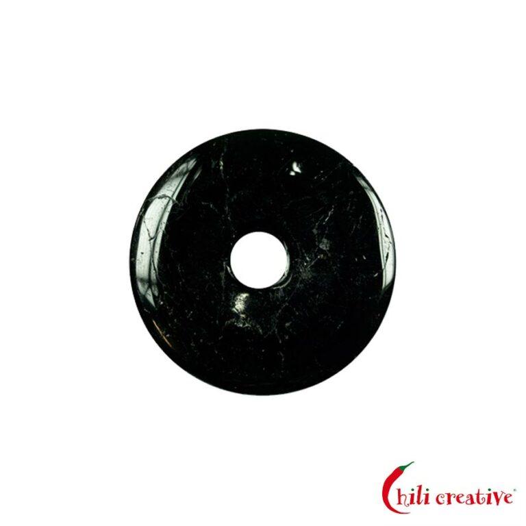 Kleiner Turmalin (Schörl) Donut, 30 mm Durchmesser