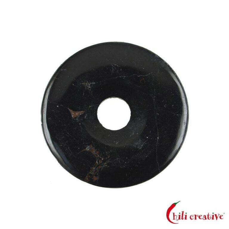 Mittelgroßer Turmalin (Schörl) Donut, 40 mm Durchmesser