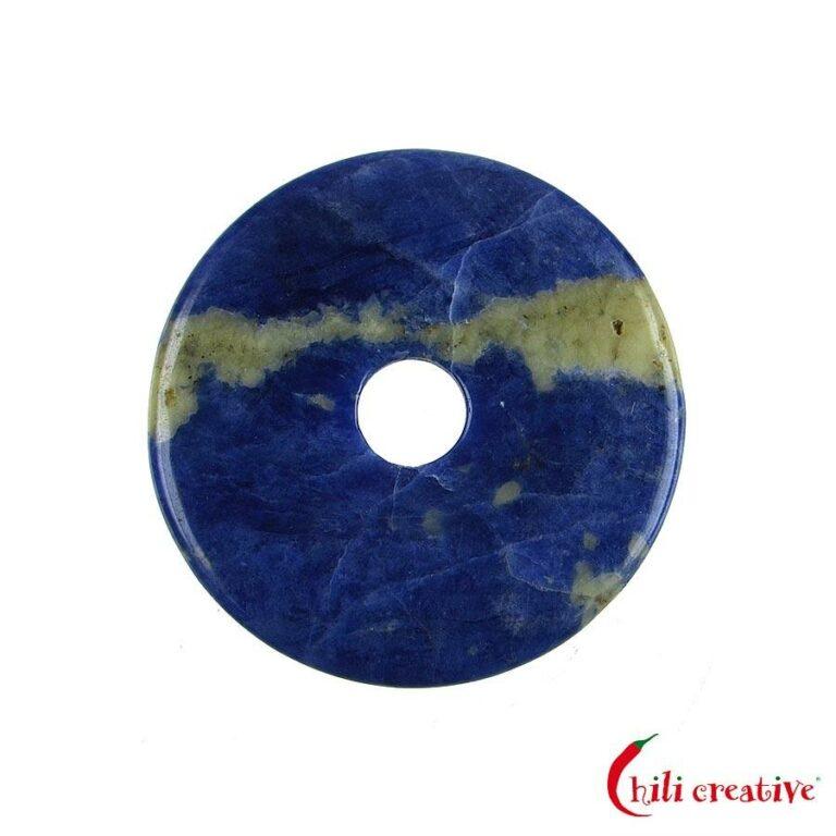 Mittelgroßer Sodalith Donut, 40 mm Durchmesser