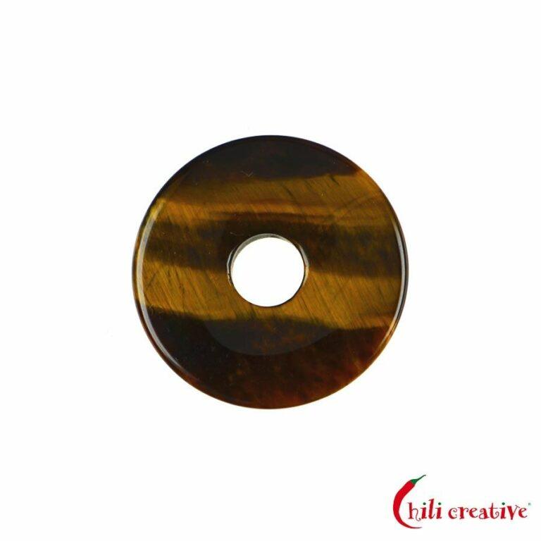 Kleiner Tigerauge Donut, 30 mm Durchmesser