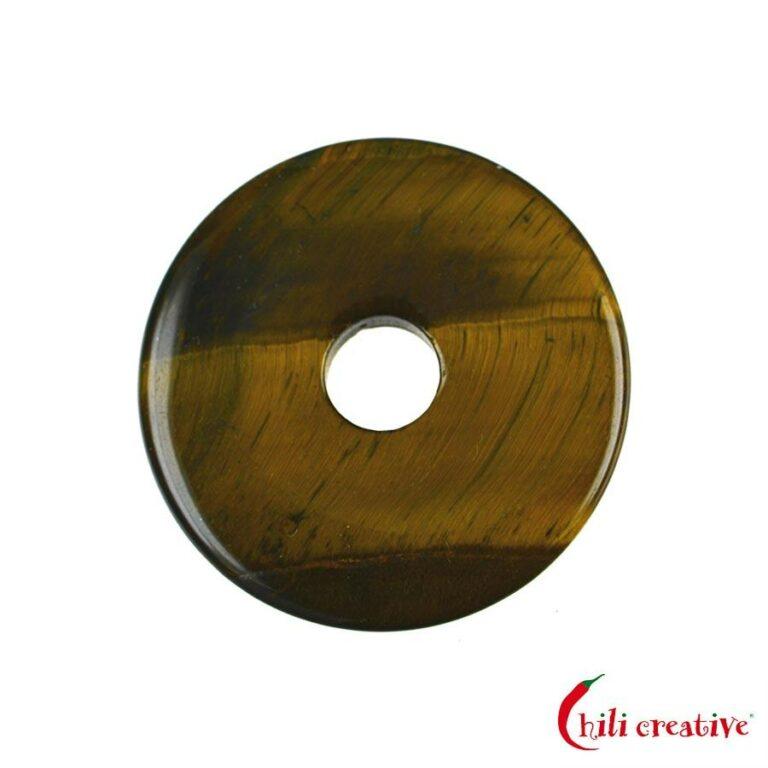 Mittelgroßer Tigerauge Donut, 40 mm Durchmesser