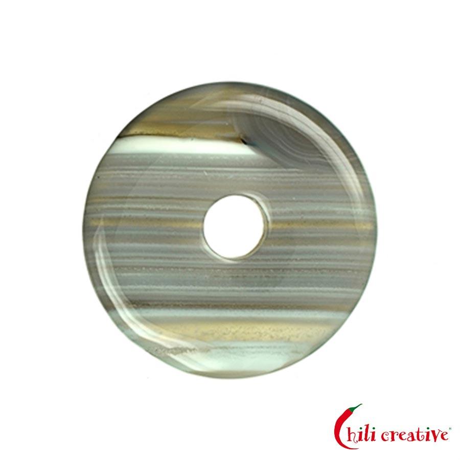 Mittelgroßer Achat Donut, 40 mm Durchmesser