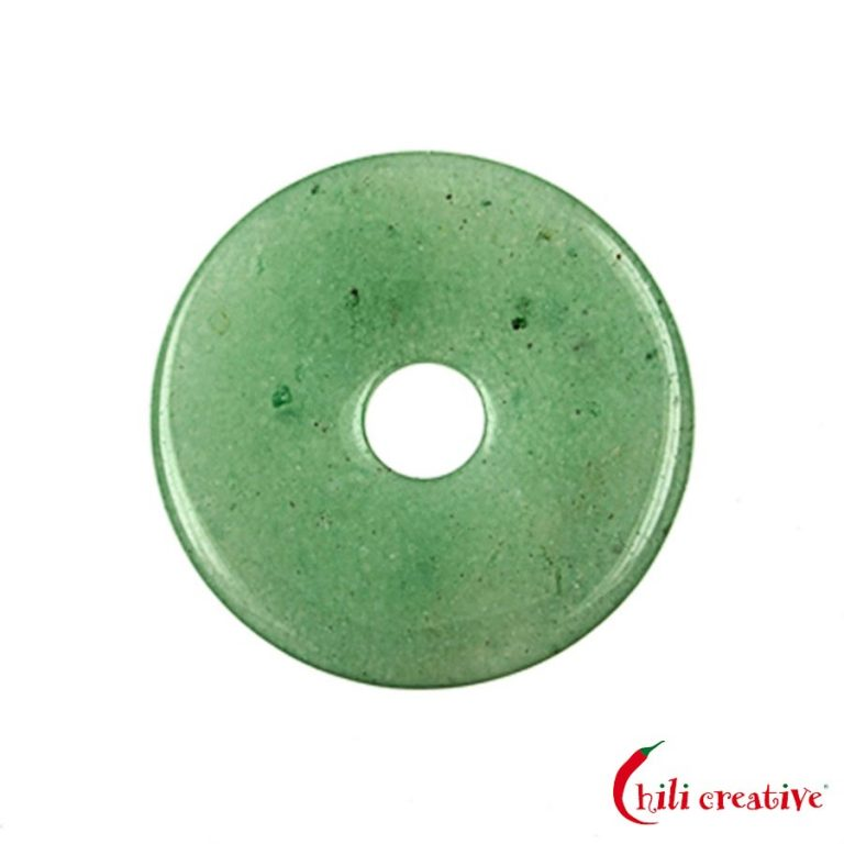 Mittelgroßer Aventurin Donut, 40 mm Durchmesser