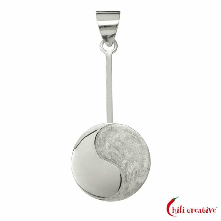 Donuthalter Yin & Yang für 30-40 mm Donut - 925er Silber