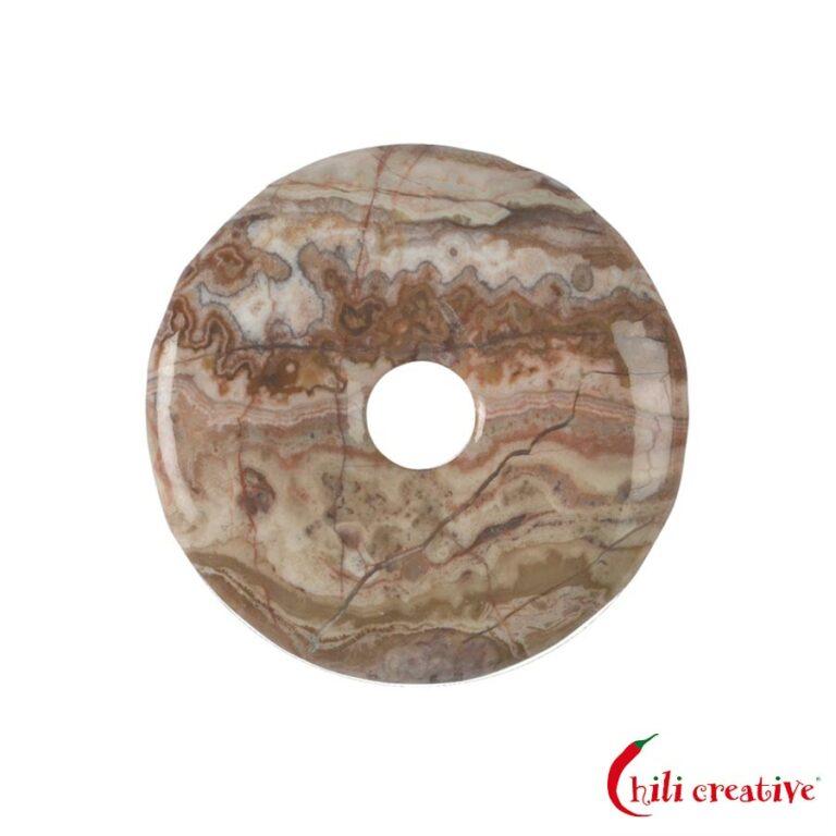 Mittelgroßer Lace-Achat Donut, 40 mm Durchmesser