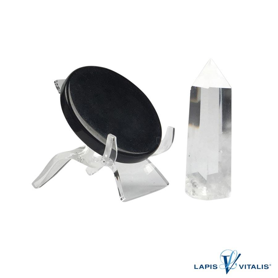 Meditations-Set Obsidian-Spiegel und Bergkristall