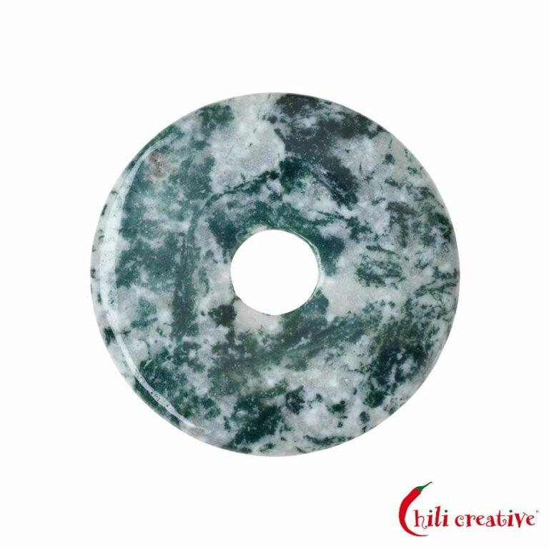 Mittelgroßer Baumachat Donut, 40 mm Durchmesser