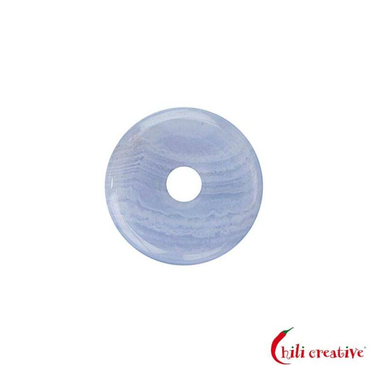 Mini Chalcedon Donut blau, 20 mm Durchmesser