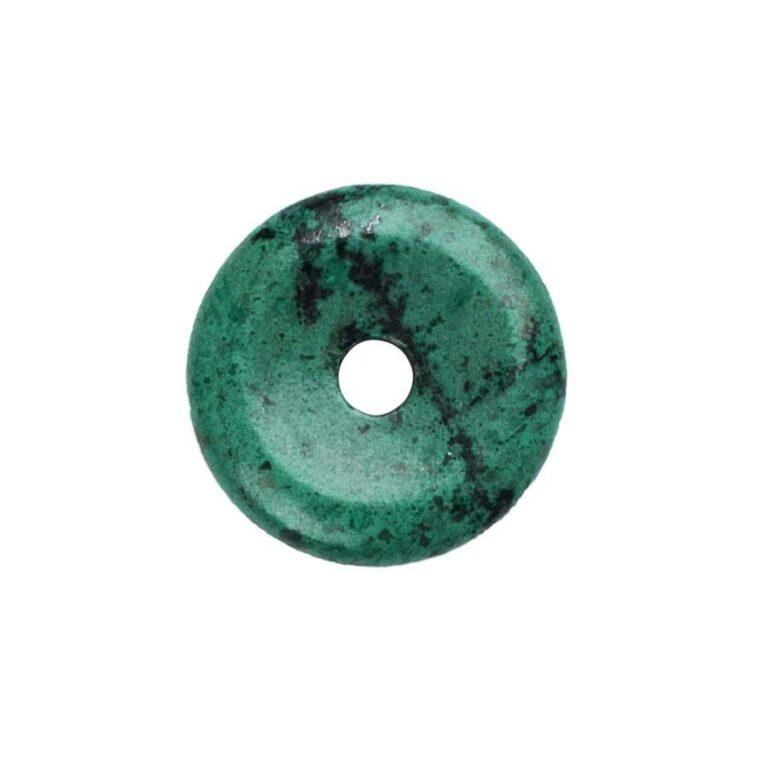 Kleiner Chrysocoll Donut, 30 mm Durchmesser