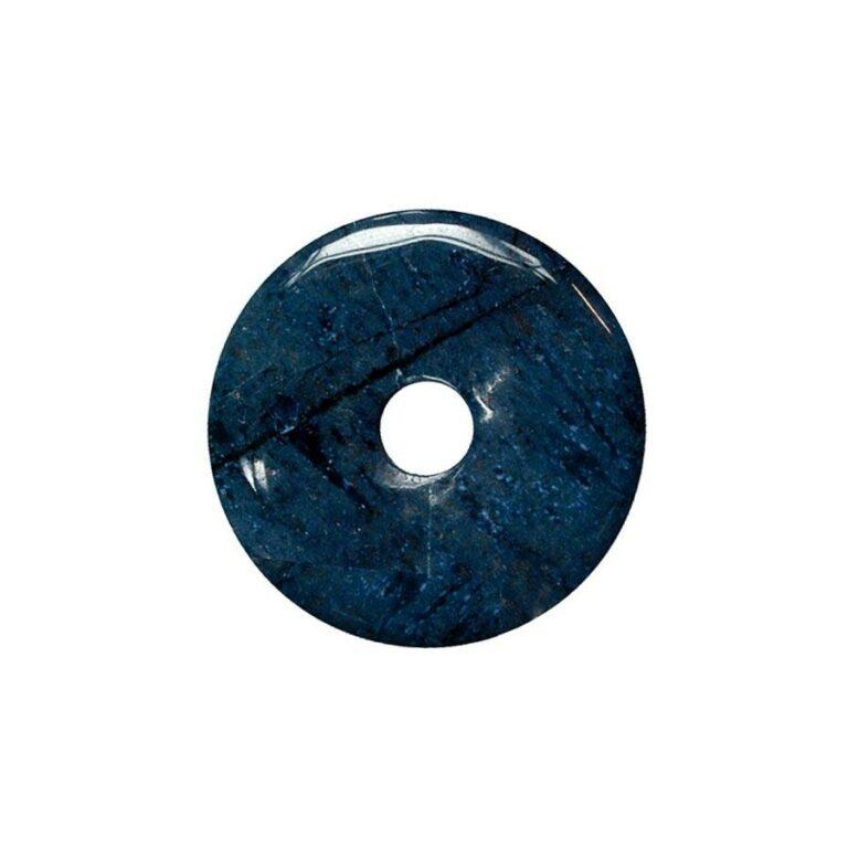 Kleiner Dumortierit Donut, 30 mm Durchmesser