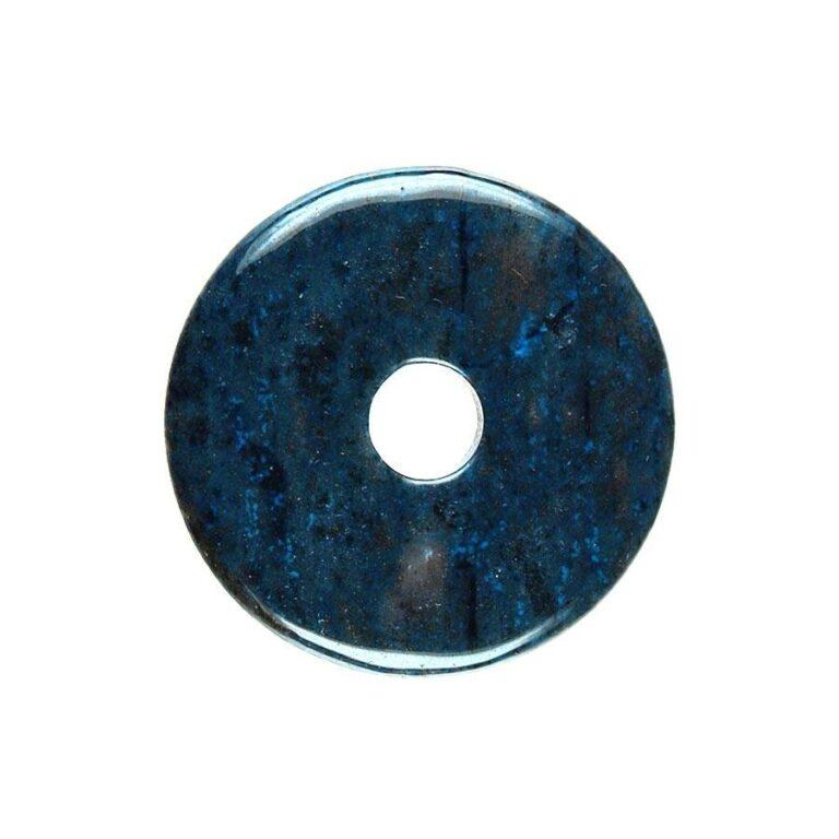MittelgroßerDumortierit Donut, 40 mm Durchmesser