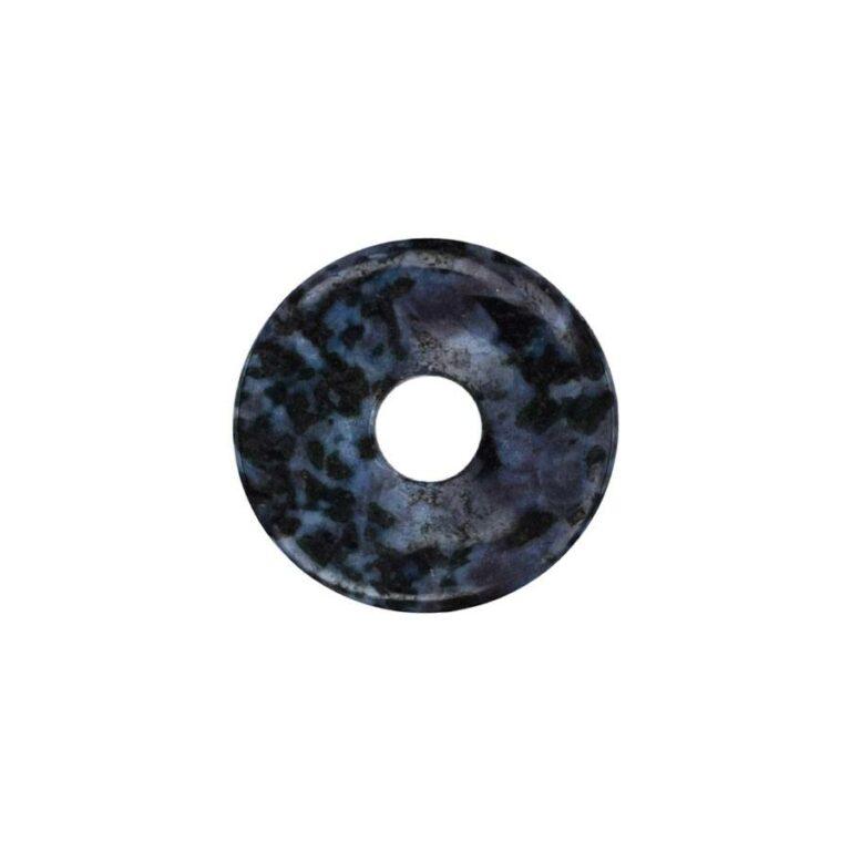Kleiner Gabbro (Mystic Merlinite) Donut, 30 mm Durchmesser