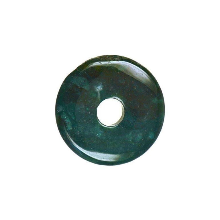 Kleiner Heliotrop Donut, 30 mm Durchmesser